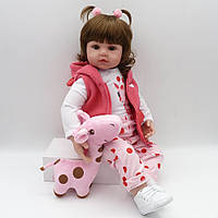 Кукла реборн Карина, 50 см мягконабивная, ручная работа Reborn doll