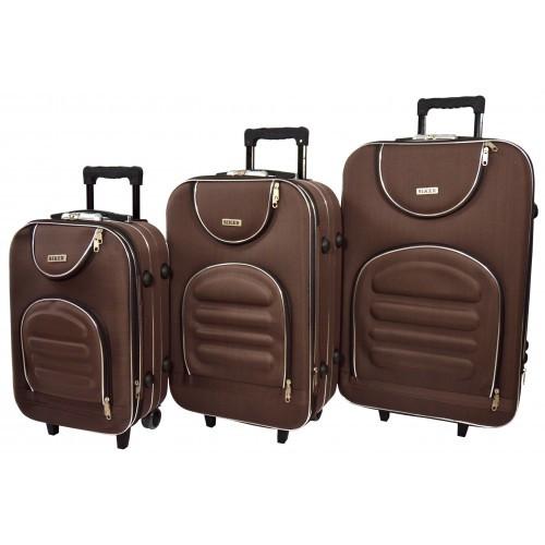 Чемодан Lux набор 3 штуки. Цвет коричневый.