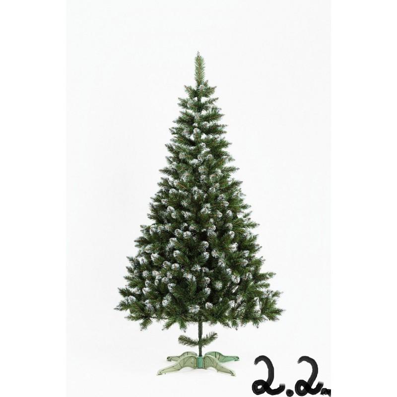 """Искусственная елка """"Лидия"""" с белыми кончиками 2.2м"""