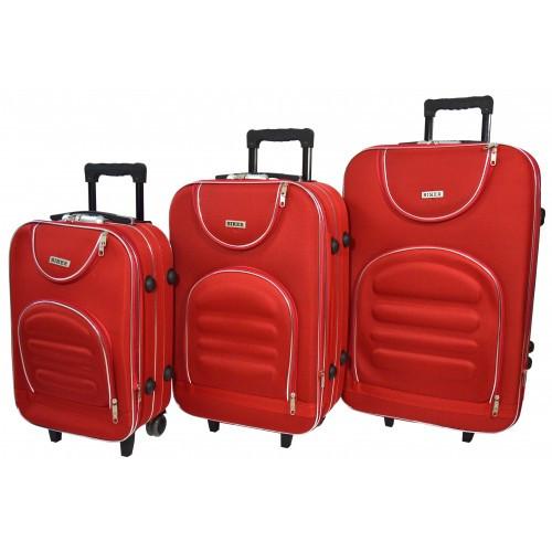 Чемодан Lux набор 3 штуки. Цвет красный.