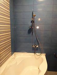 Утановка смесителя со стойкой ванная