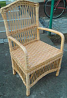 Стул плетеный  с высокой спинкой кофейный, фото 1