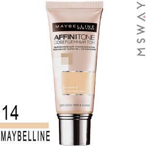 Maybelline - Тональный крем Affinitone Тон 14 кремово бежевый 30ml, фото 2