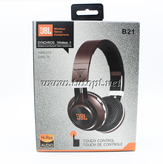 """Наушники беcпроводные JBL B21 с Bluetooth, MP3 и FM """"Реплика"""""""