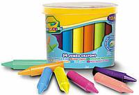 Восковые мелки в бочонке для самых маленьких, широкие, 24 штуки, Mini Kids, Crayola