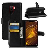 Чехол книжка для Xiaomi Pocophone F1 Черный