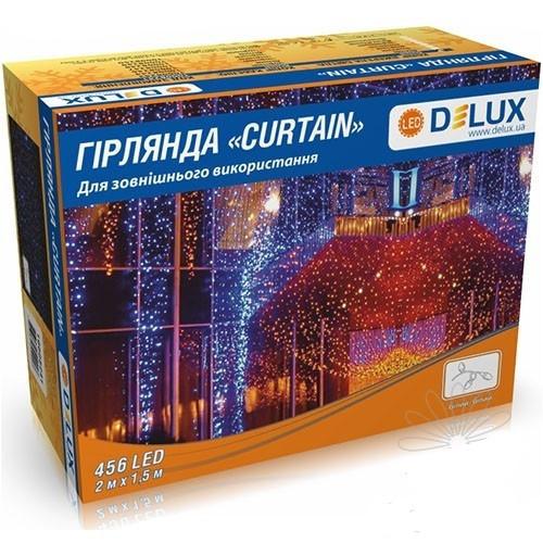 Гірлянда зовнішня DELUX CURTAIN 456LED 2x1.5m синій/білий IP44 EN