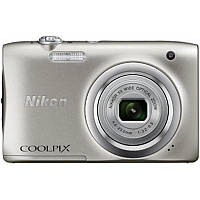 Цифровая фотокамера Nikon Coolpix A100 Silver (VNA970E1) (официальная гарантия)