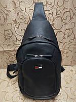 (36*18-большо)Барсетка слинг на грудь искусств кожа Унисекс/Cумка спортивные мессенджер для через плечо(ОПТ)  , фото 1