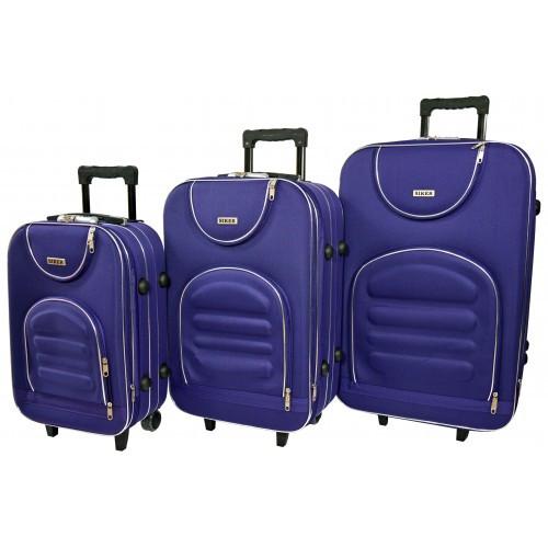 Чемодан Lux набор 3 штуки. Цвет темно-фиолетовый.