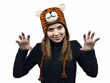 Шапка з вушками для хлопчика Тигр