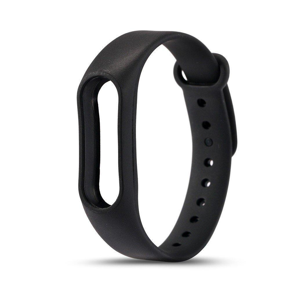 Ремешок TPU для фитнес-браслета Xiaomi Mi Band 2 Black