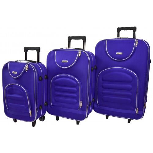 Чемодан Lux набор 3 штуки. Цвет фиолетовый.