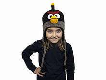 Вовняна шапка дитяча для хлопчика Ангри бердз