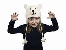 Тепла шапка для хлопчика Білий ведмідь