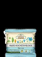 """Мыло косметическое """"Овес и Лен"""" - Зеленая Аптека"""