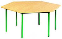 Стол обеденный детский шестигранный регулируемый по высоте