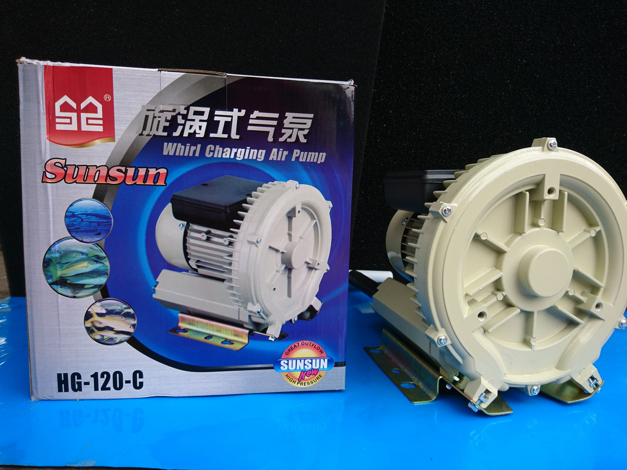 Компрессор вихревой SunSun HG-120C, 350 л/м, 120 Вт