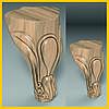 Ножка резная из дерева для тумб, кресел и шкафов. Опора мягкой и корпусной мебели кабриоль. 110 мм