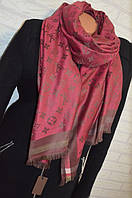 Шарф палантин в стиле Louis Vuitton (Луи Витон) бордо