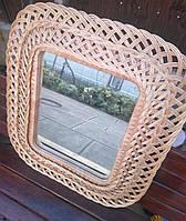 Зеркало плетеное настенное  квадратное, фото 1