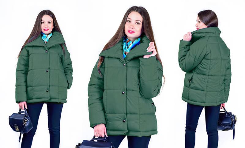Куртка Manon жіноча зимова вільного крою, на кнопках, фото 3