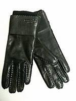 Женские кожаные перчатки Hermes черные, фото 1