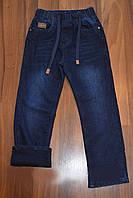 Подростковые джинсы на флисе 140-164