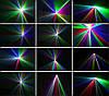 Динамический диско лазер новогодний 3 цвета с пультом ДУ. DM-RGB 400. Светомузыка, фото 3