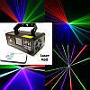Динамический диско лазер новогодний 3 цвета с пультом ДУ. DM-RGB 400. Светомузыка, фото 7