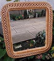 Зеркало из лозы большое, фото 1