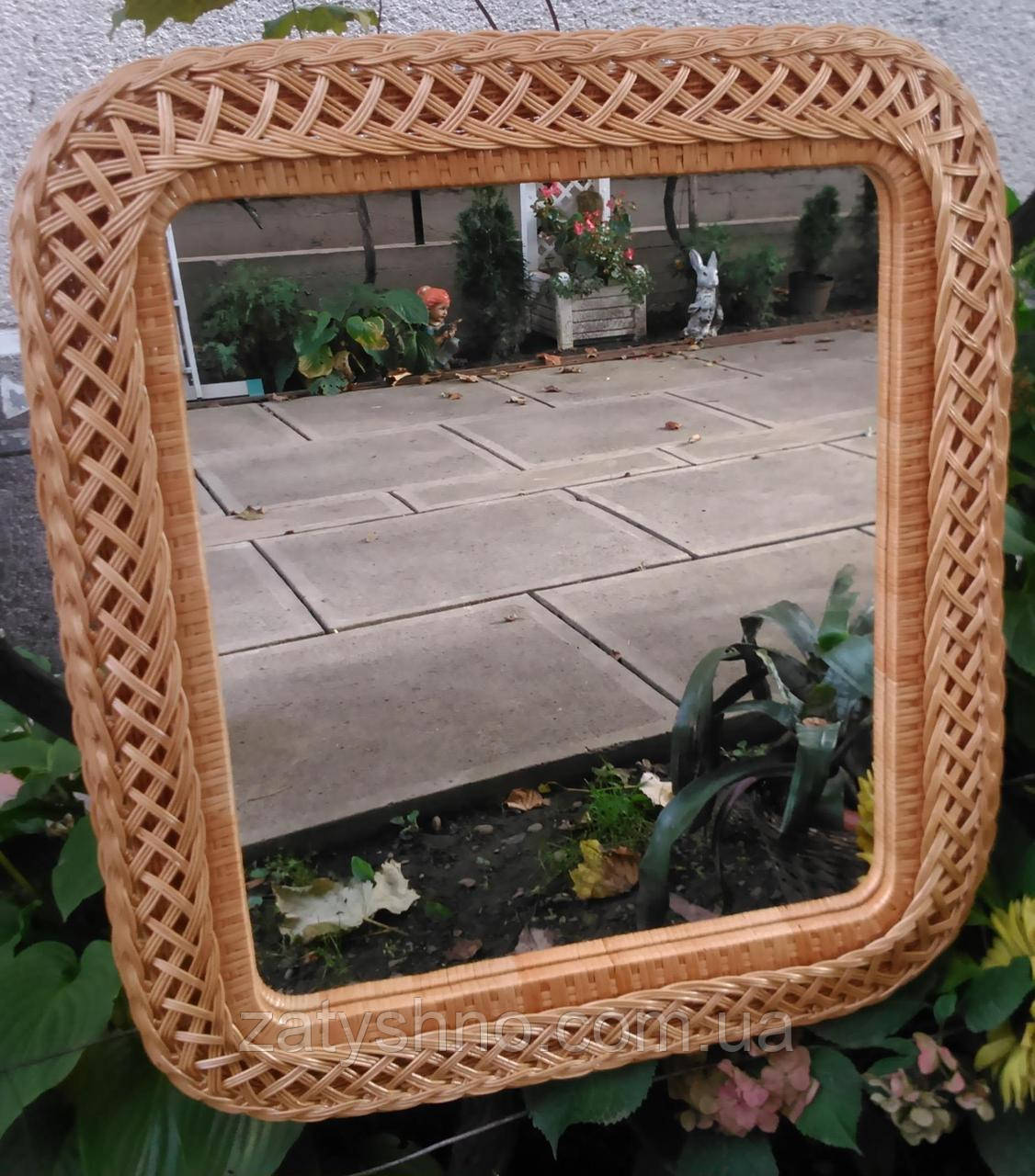 Зеркало из лозы большое