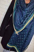 Палантин шарф в стиле Louis Vuitton (Луи Витон) сине-зеленый