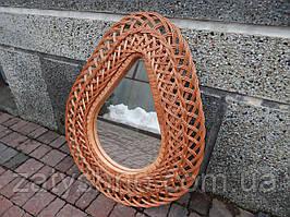 Зеркало плетеное настенное