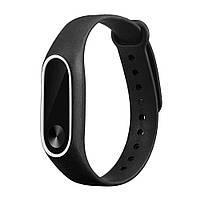 Ремешок TPU для фитнес-браслета Xiaomi Mi Band 2 Black with white, фото 2