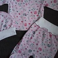 Набор комплект с шапочкой детский теплый для новорожденной девочки