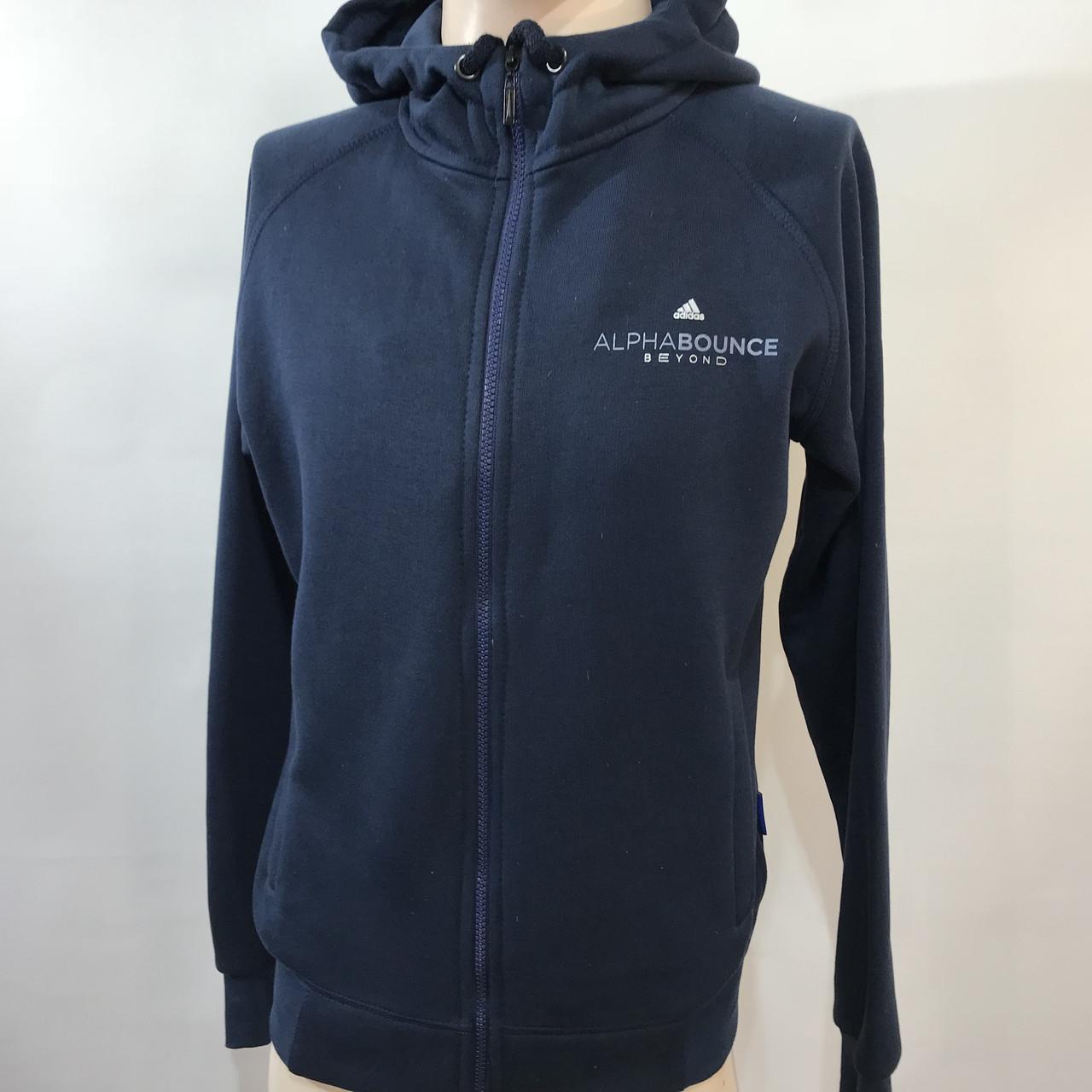 Мужская теплая кофта Adidas/ темно-синяя