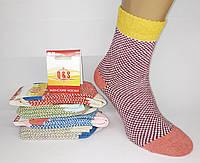 """Яркие женские зимние носки  фирмы """"Q&S"""". Крупная вязка. Узор шахматка., фото 1"""