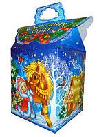 """Картона упаковка для новорічних подарунків """"Золотий коник"""" 700 г"""