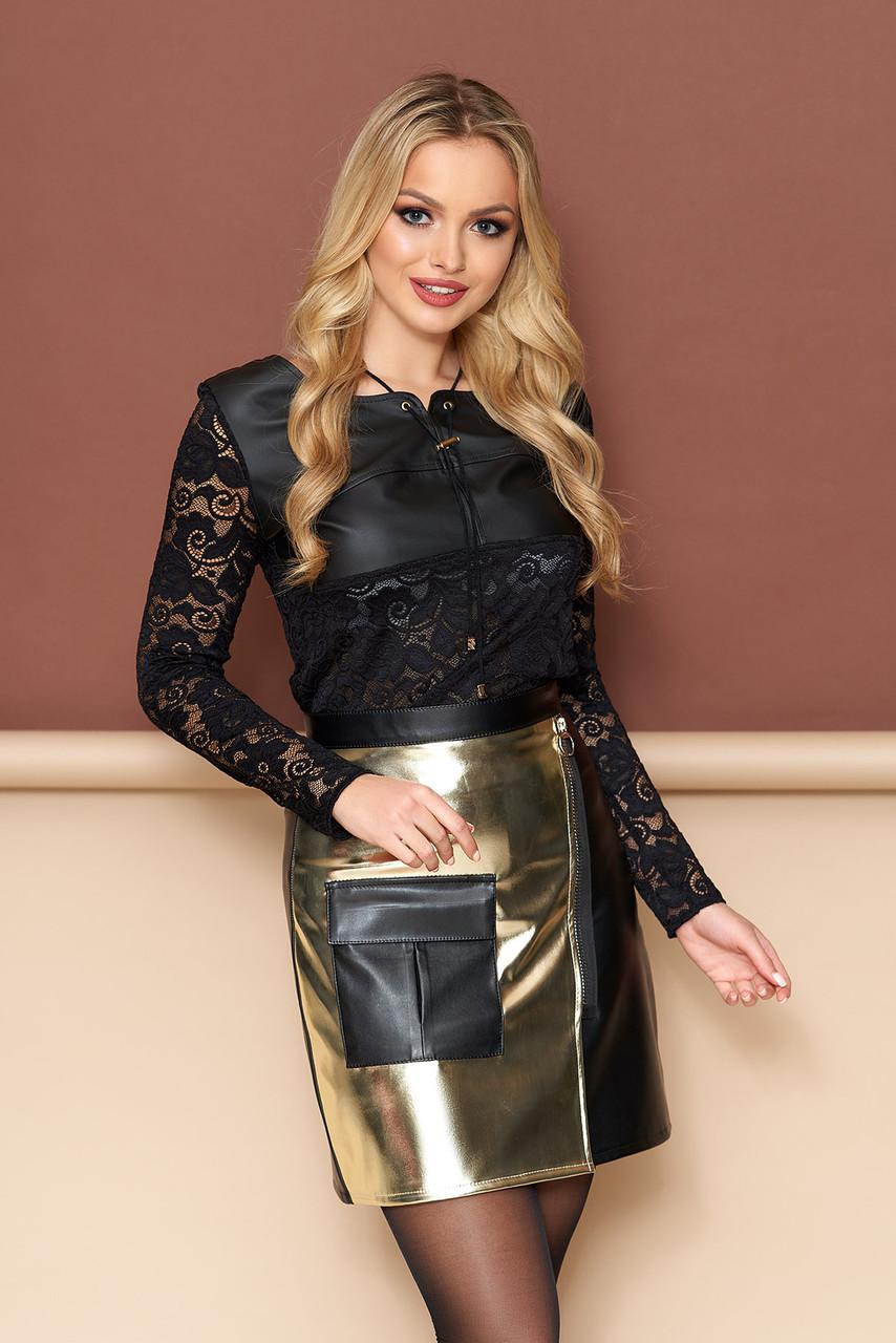 Женская мини-юбка в городском стиле (3 цвета)