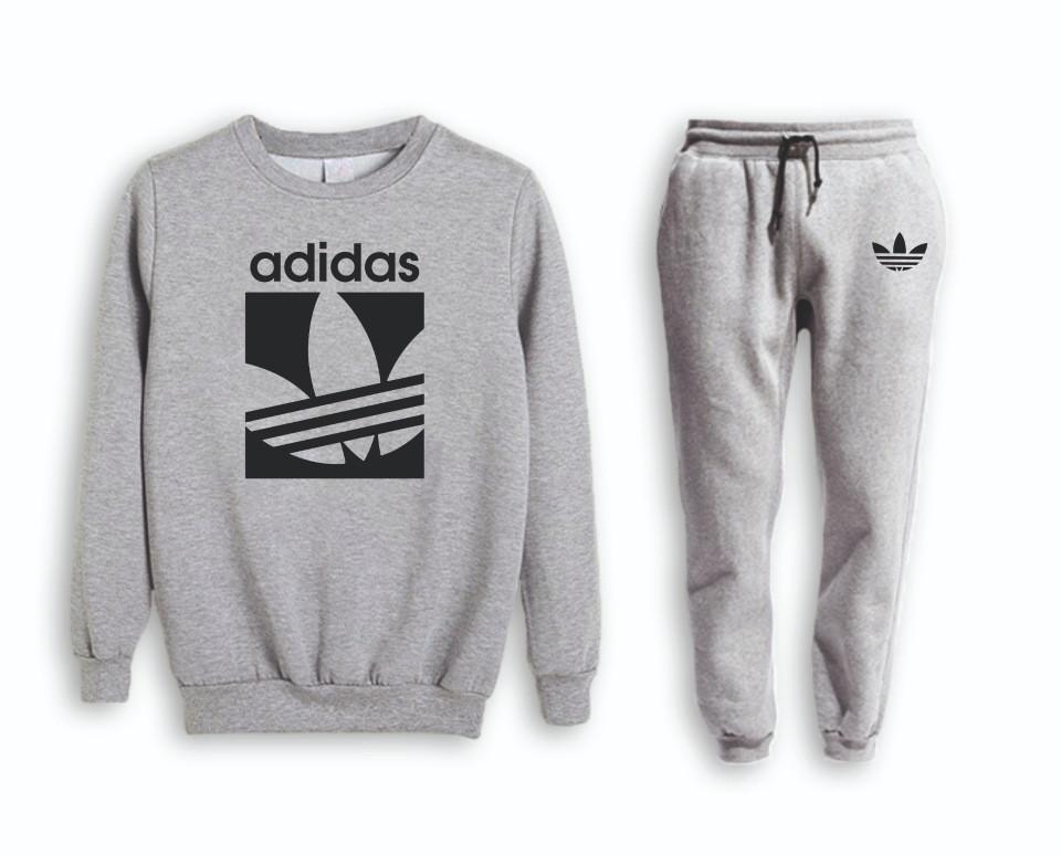 Сірий чоловічий літній тренувальний костюм Adidas (Адідас)