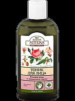 """Тоник для зрелой кожи """"Розовая вода и миндальное масло"""" - Зеленая Аптека 200мл."""