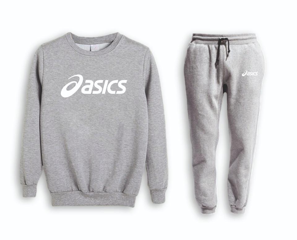 Сірий чоловічий літній тренувальний костюм Asics (Асикс)