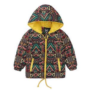 Демисезонная куртка с узором, фото 2