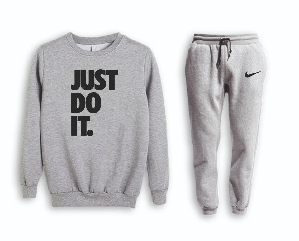 Сірий чоловічий літній тренувальний костюм Nike (Найк)