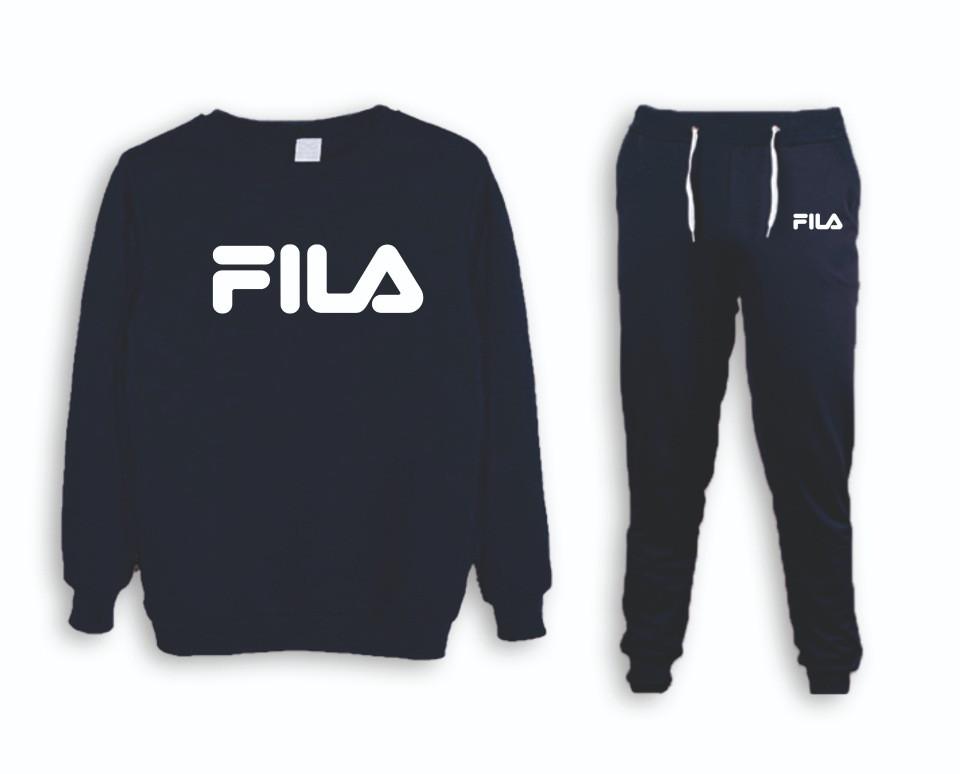 Мужской тренировочный спортивный костюм реглан  Fila (Фила)