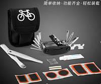 Ремкомплект для велосипеда в чохлі, мультитул , ремнабір , латки , бортування
