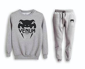 Сірий чоловічий літній тренувальний костюм Venum( Венум)