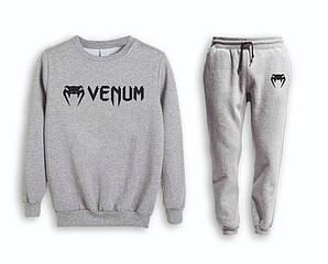 Сірий чоловічий літній тренувальний костюм на манжеті Venum( Венум)