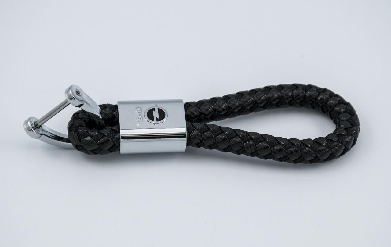 Брелок с логотипом OPEL, плетеный берлок с логотипом опель для автомобилиста + карабин/черный
